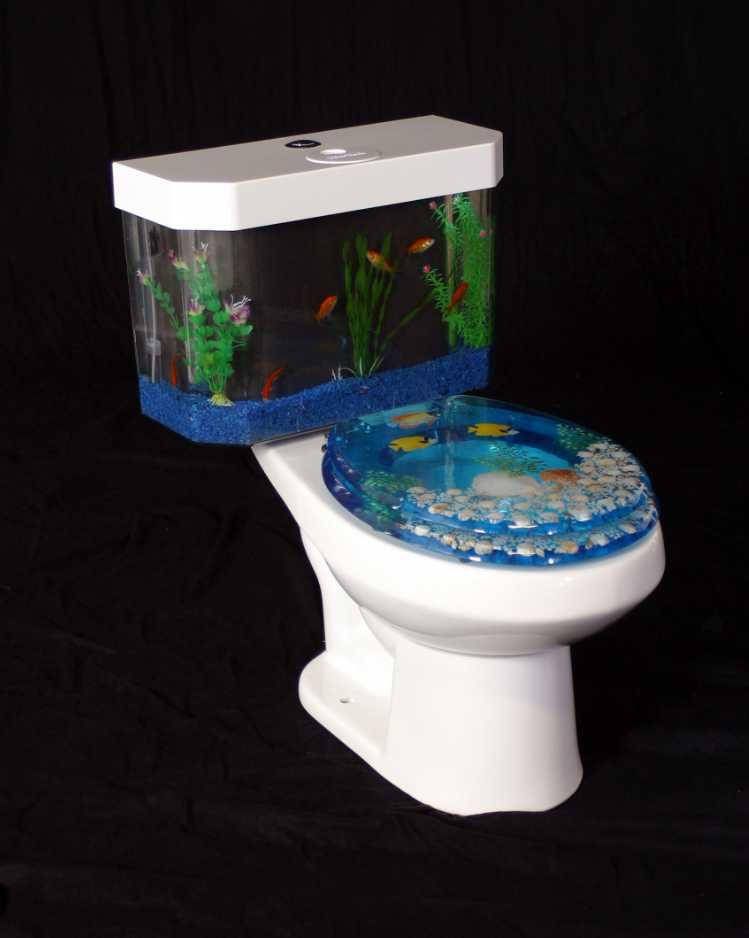 Toaleta a akvárium v jednom, aquaone.com