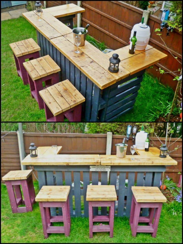 Zahradní bar z palet